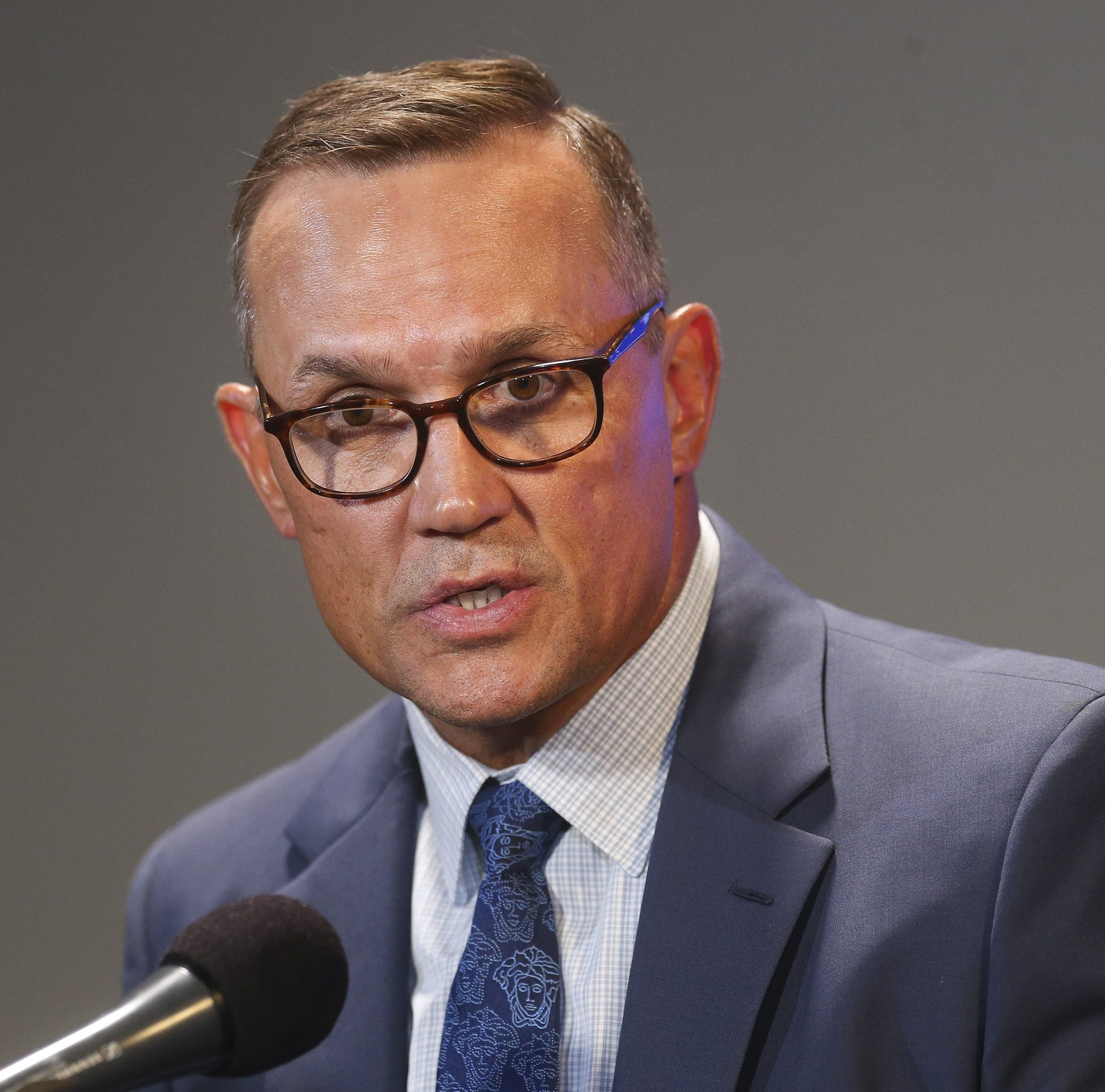 Detroit Red Wings fan's sign begs Steve Yzerman to 'save us'