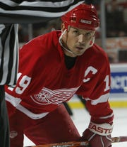 Detroit Red Wings' Steve Yzerman on Oct. 29, 2003.