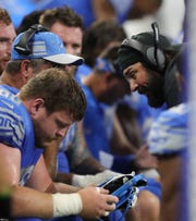 Detroit Lions head coach Matt Patricia on the sideline during the first half against the New York Jets on Monday, Sept. 10, 2018, at Ford Field in Detroit.