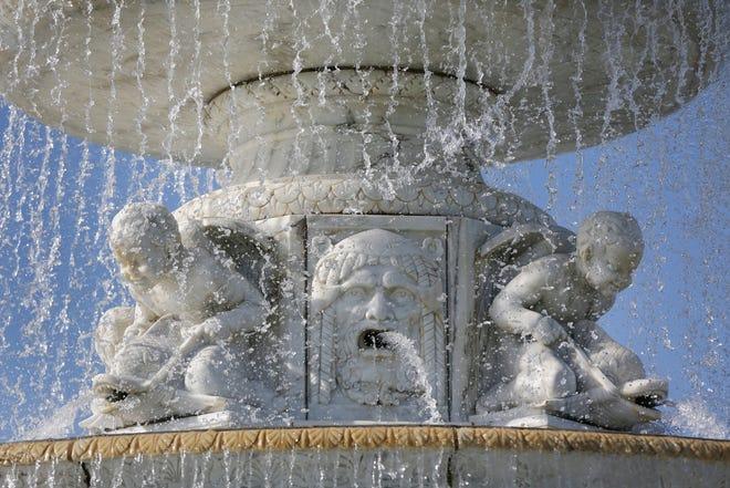 The Scott Fountain on Belle Isle on Monday, September 11, 2018.