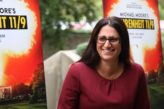 Dr. Mona Hanna-Attisha attends the screening for Flint documentary filmmaker Michael Moore's new film Farenheit 11/9 at The Whiting auditorium in Flint, Michigan on Monday, September 10, 2018.