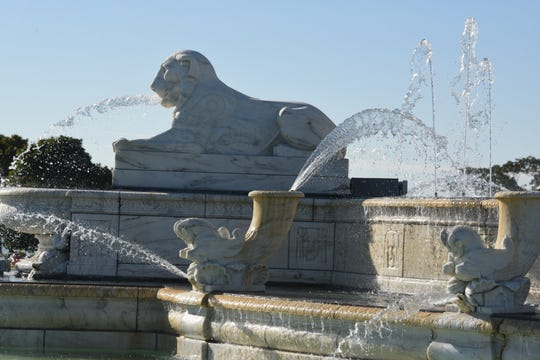The Scott Fountain on Belle Isle on Tuesday, September 11, 2018, received a contribution of $400,000 from the 2018 Grand Prixmiere fundraiser to help keep the fountain operating.