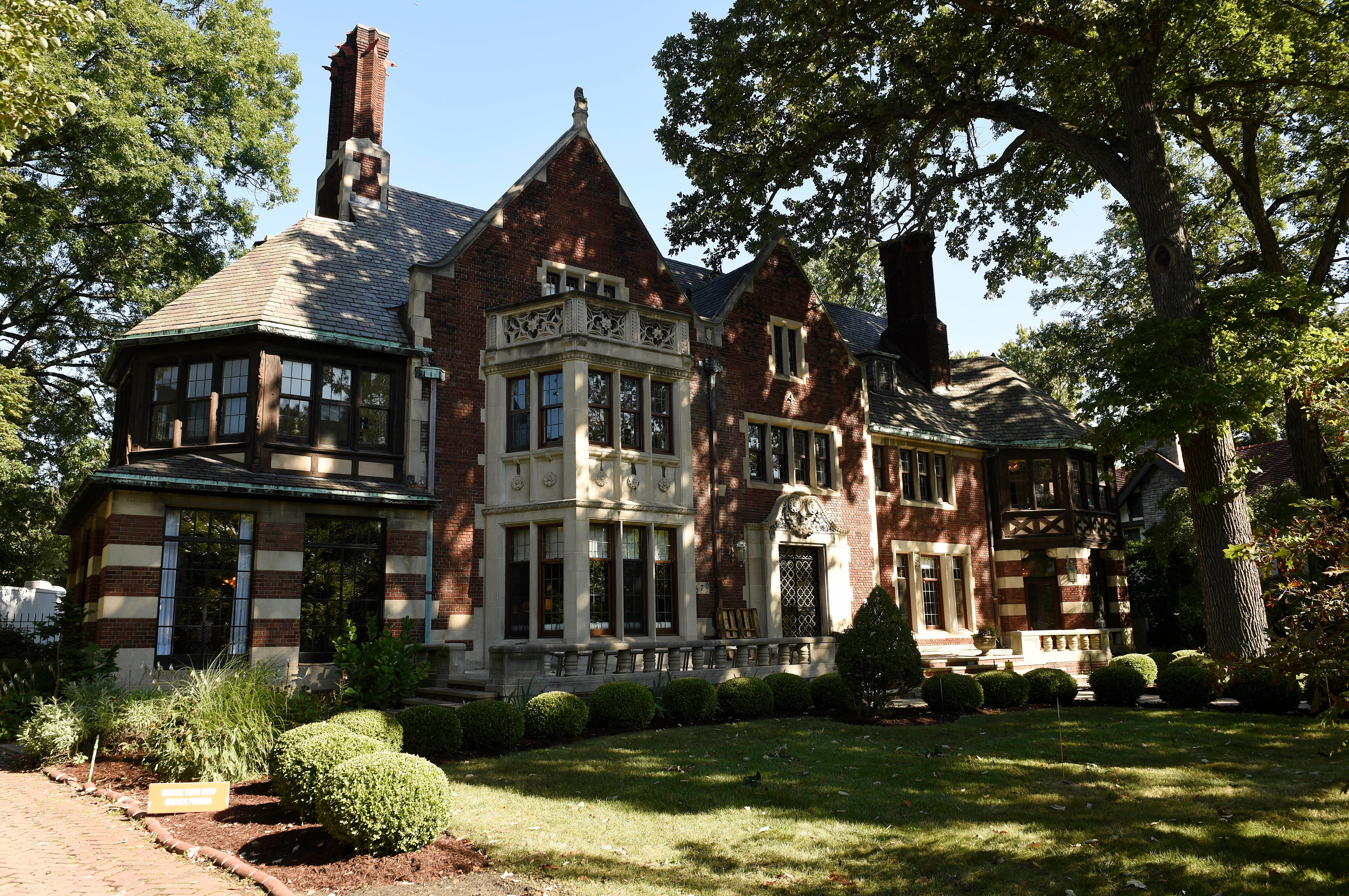 The Charles T. Fisher mansion.