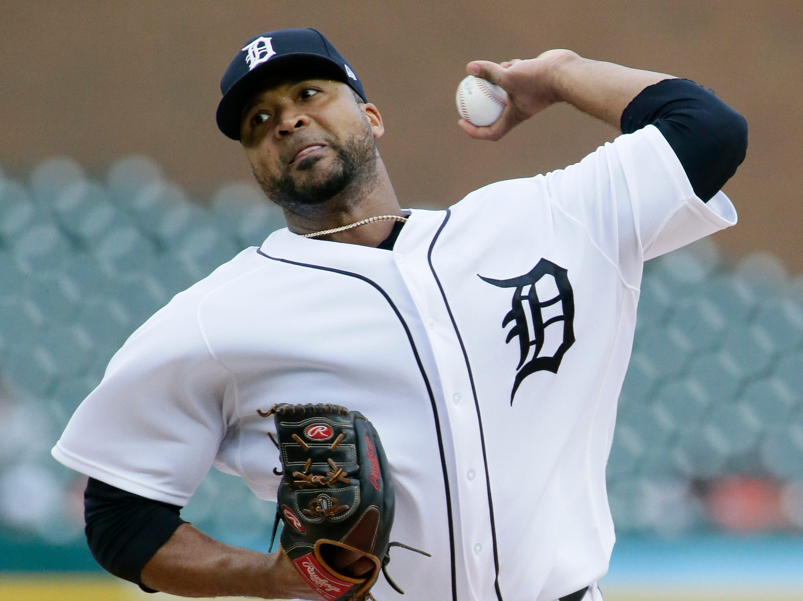 Detroit Tigers starting pitcher Francisco Liriano pitches against the Houston Astros during the second inning.