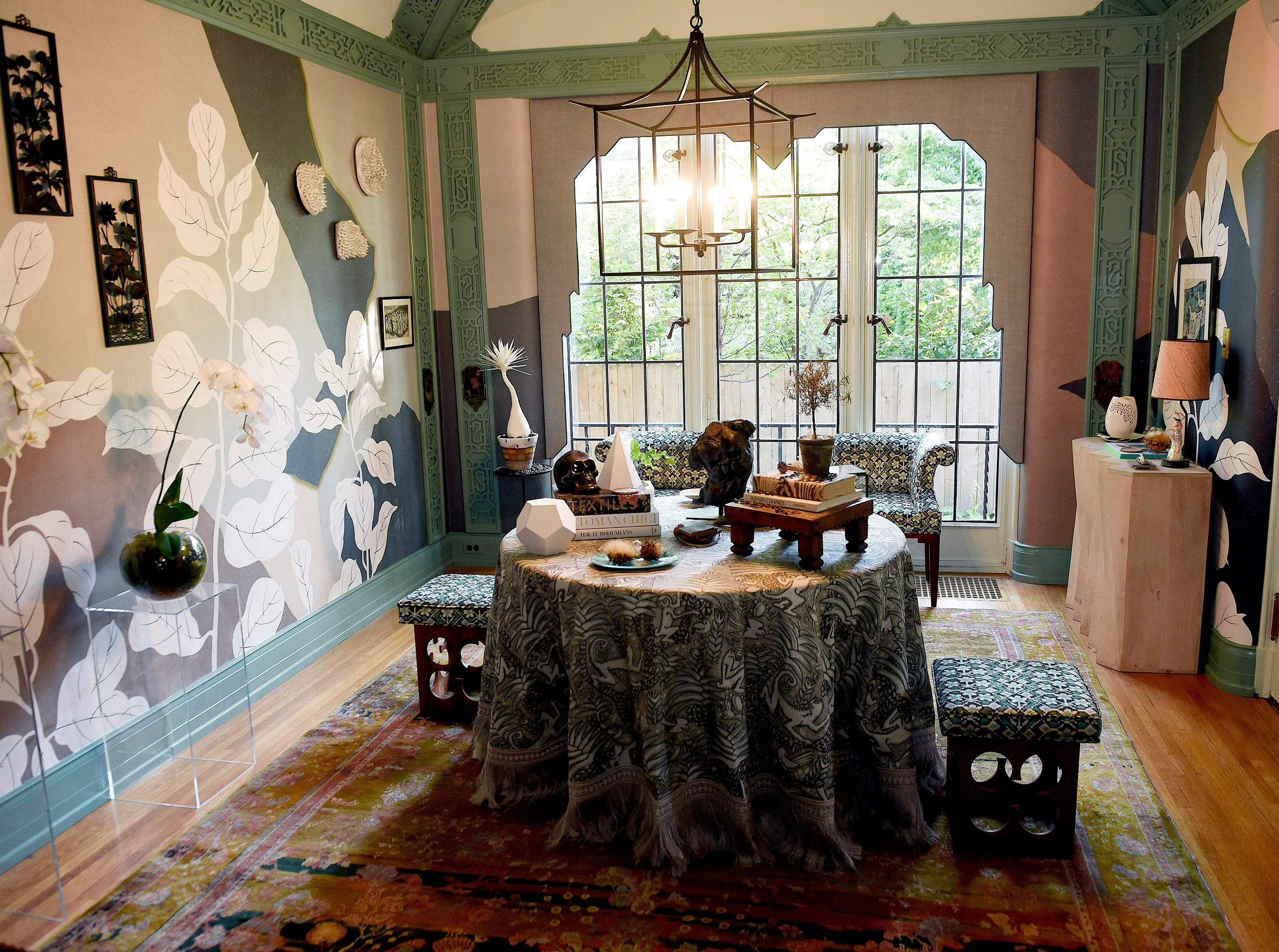 The breakfast room inside the Fisher mansion.