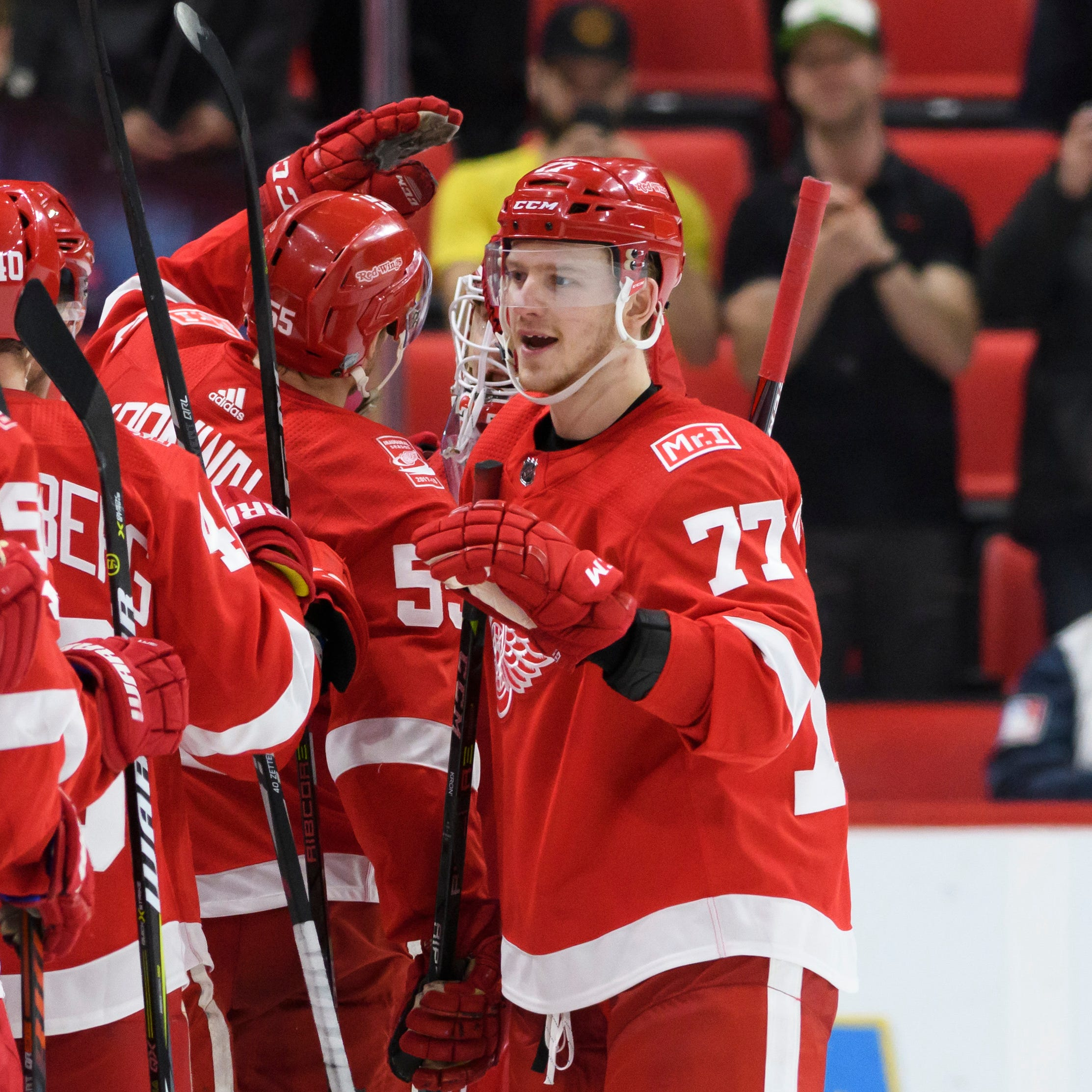 Svechnikov turns disappointment into determination to make Wings