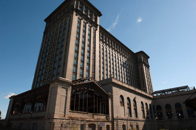 Exterior of the Michigan Central Station in Detroit.