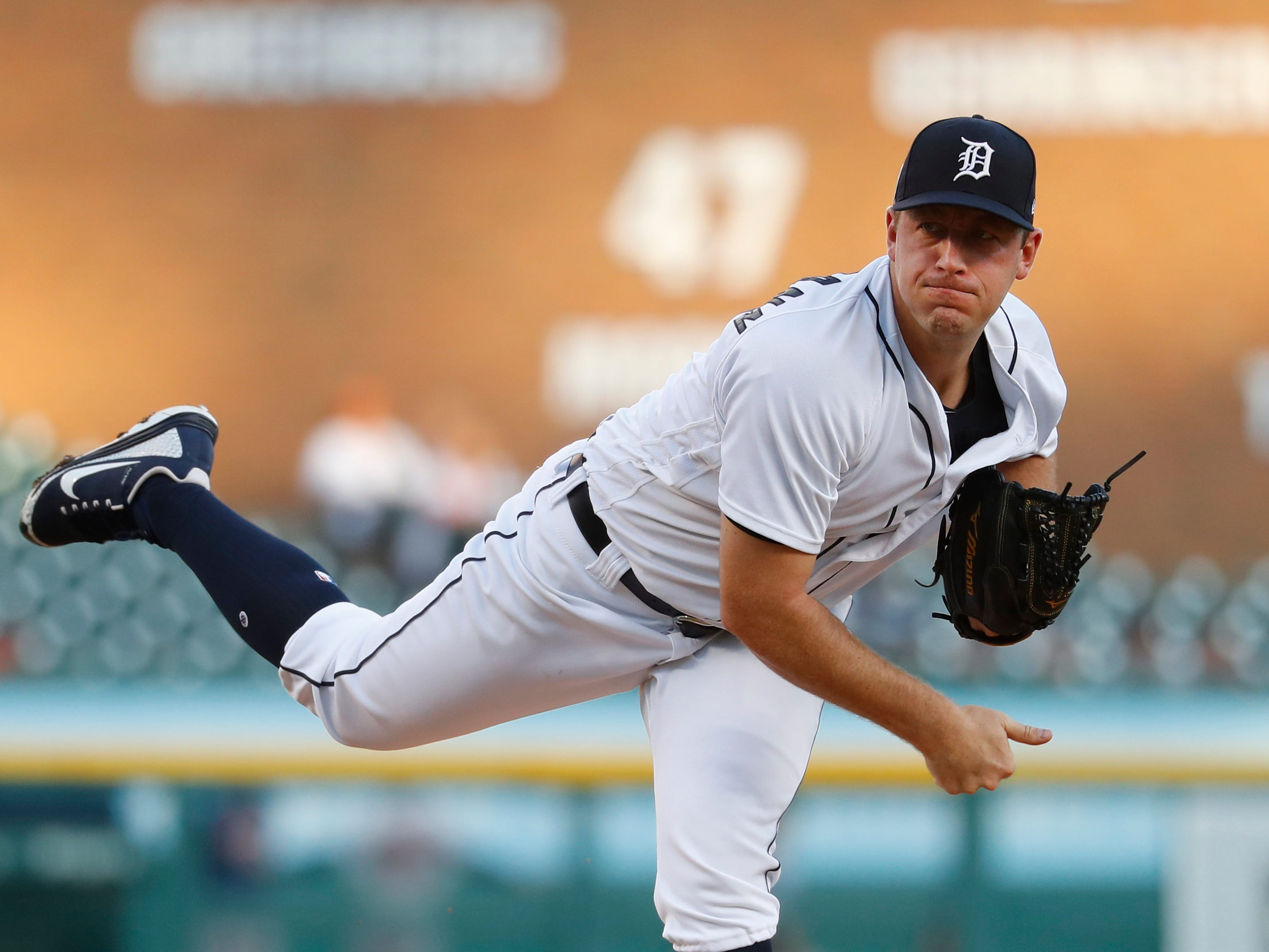 Detroit Tigers pitcher Jordan Zimmermann throws against the Houston Astros in the second inning.