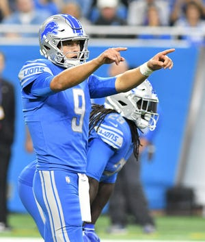 QB Matthew Stafford will be looking to bounce back from a horrendous outing against the Jets when he threw four interceptions.