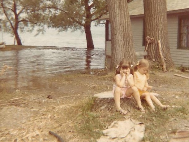 An image of Seneca Lake by the Showboat Motel. The photo was provided by Ronna Best of Binghamton. She was 6, and her sister, Robin, was 3 1/2, (both in photo) when they stayed in the cottages with parents, Ron and Rita Shetler, and grandparents, Foster and Mary Brewer.