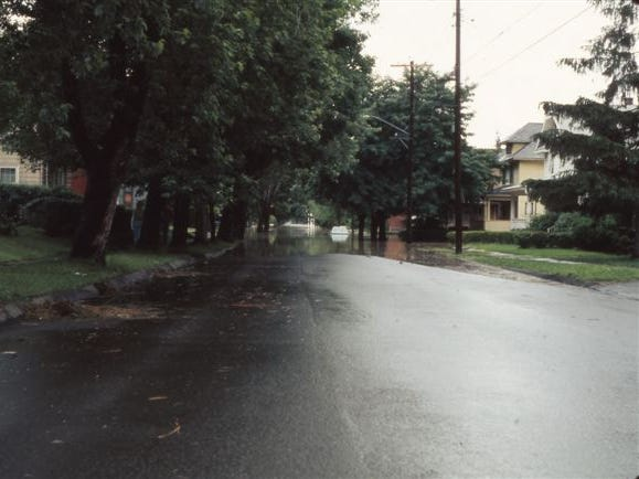 Looking east on West Gray Street from Guinnip in Elmira.