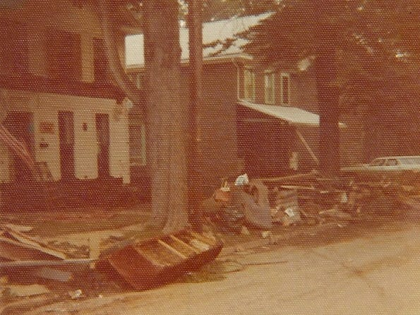 A look at 304 Lormore St. in Elmira after the flood.