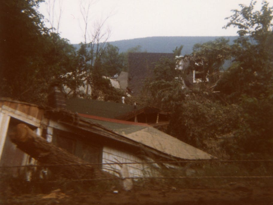 The aftermath of Hurricane Agnes.