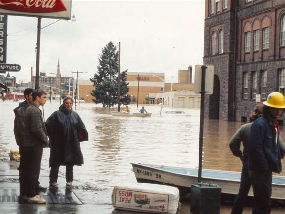 From Cappy's, looking south on Park Place in Elmira.