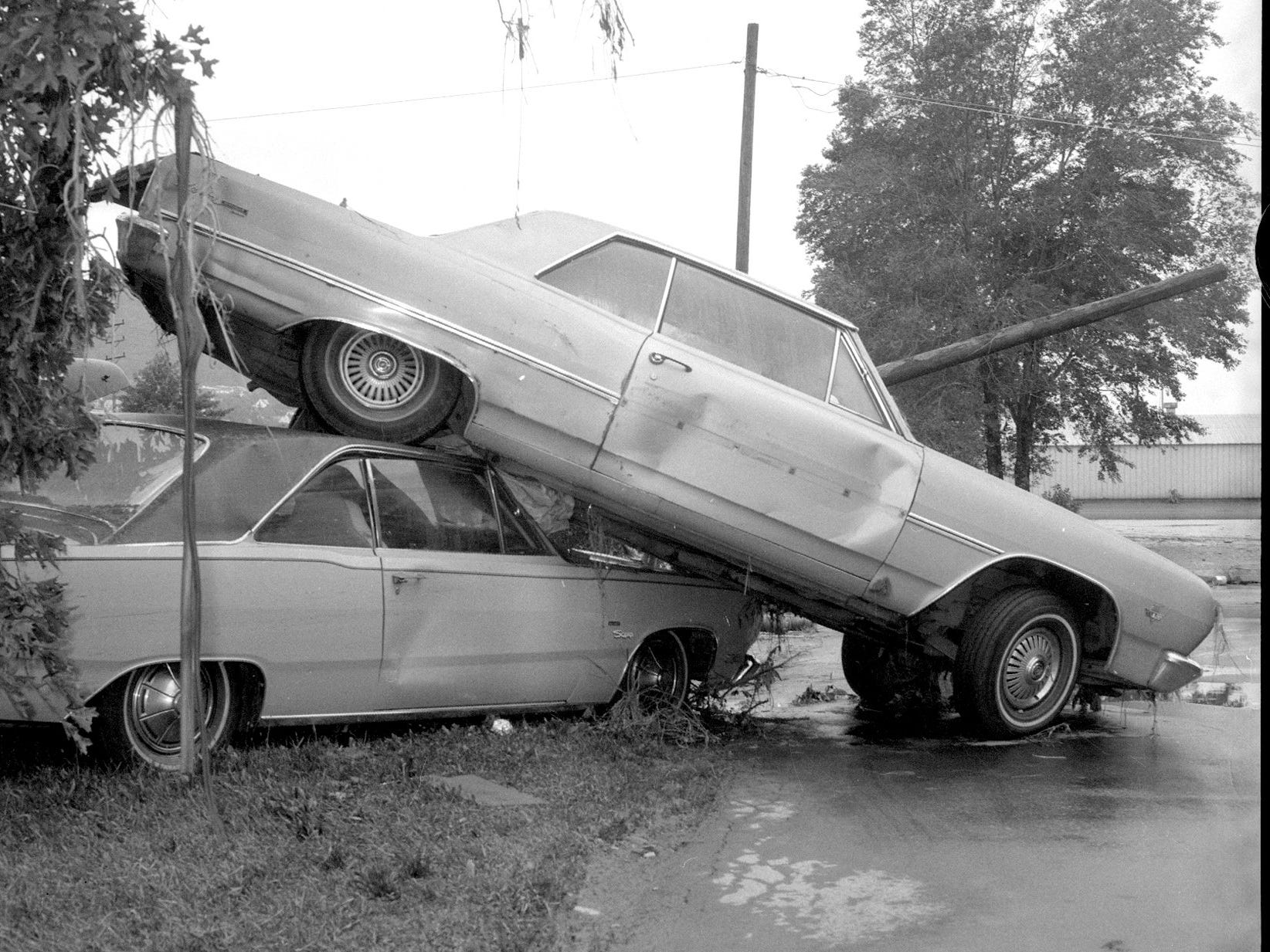 Cars were tossed around like toys in Elmira by Agnes.