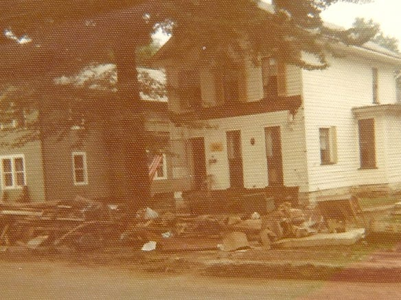A look at 304 Lormore St. in Elmira on the Tuesday after the flood.