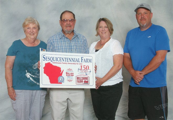 Mary Ann and George Scott's family property in Fond du Lac was one of 54 honored by the Sesquicentennial Farm Awards Program at the 2018 Wisconsin State Fair.