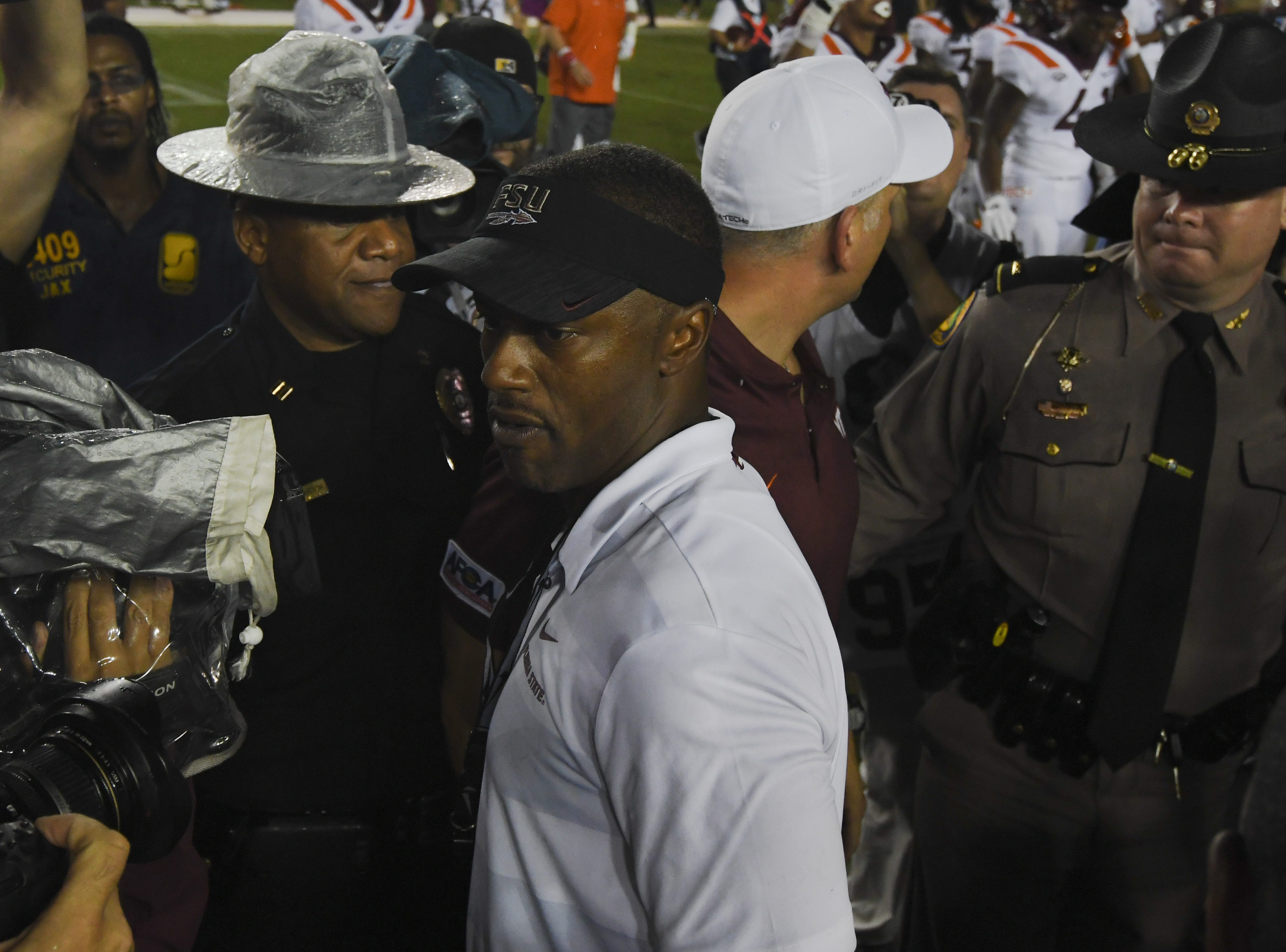 FSU head coach Willie Taggart loses his debut game against Virginia Tech 24-3 on Monday night at Doak Campbell Stadium.