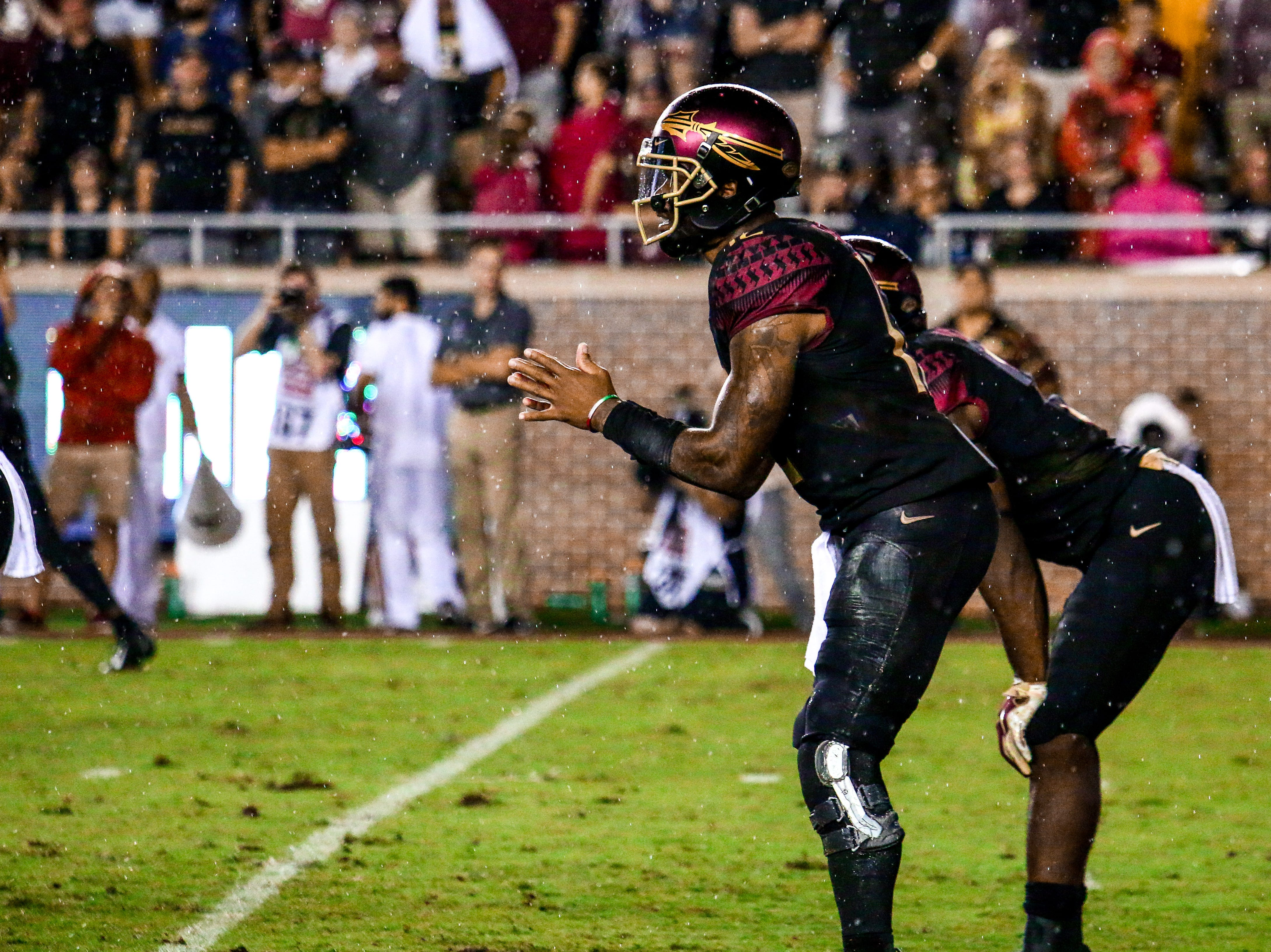 Deondre Francois (12) and the FSU Offense had a forgettable game against #20 Virginia Tech. Only scoring three points on the night and averaging 6.7 passing yards on Monday, September 3rd at Doak Campbell Stadium.