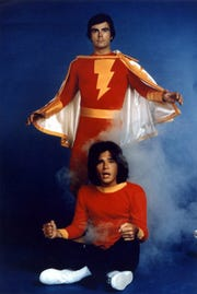 "Jackson Bostwick (top) played DC's Captain Marvel in the 70s TV series ""Shazam!"")."