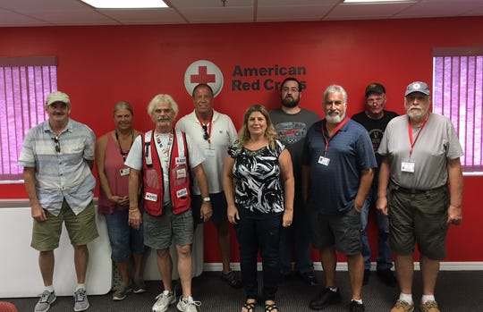 Ten volunteers from the Red Cross will travel to North Carolina and Virginia Wednesday to help with the aftermath of Hurricane Florence.