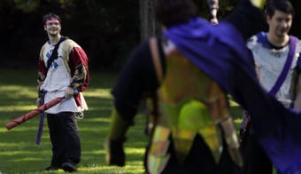 Wearing medieval clothing and sword fighting in a Green Bay-area park may seem strange to some. But to the Crimson Circle, it's a typical Saturday.
