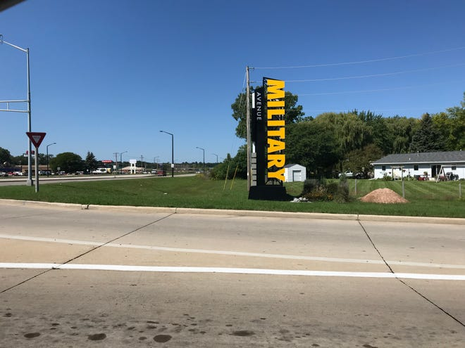 The Military Avenue Business Improvement District secured funds to erect a new sign where Military Avenue meets Lombardi Avenue.
