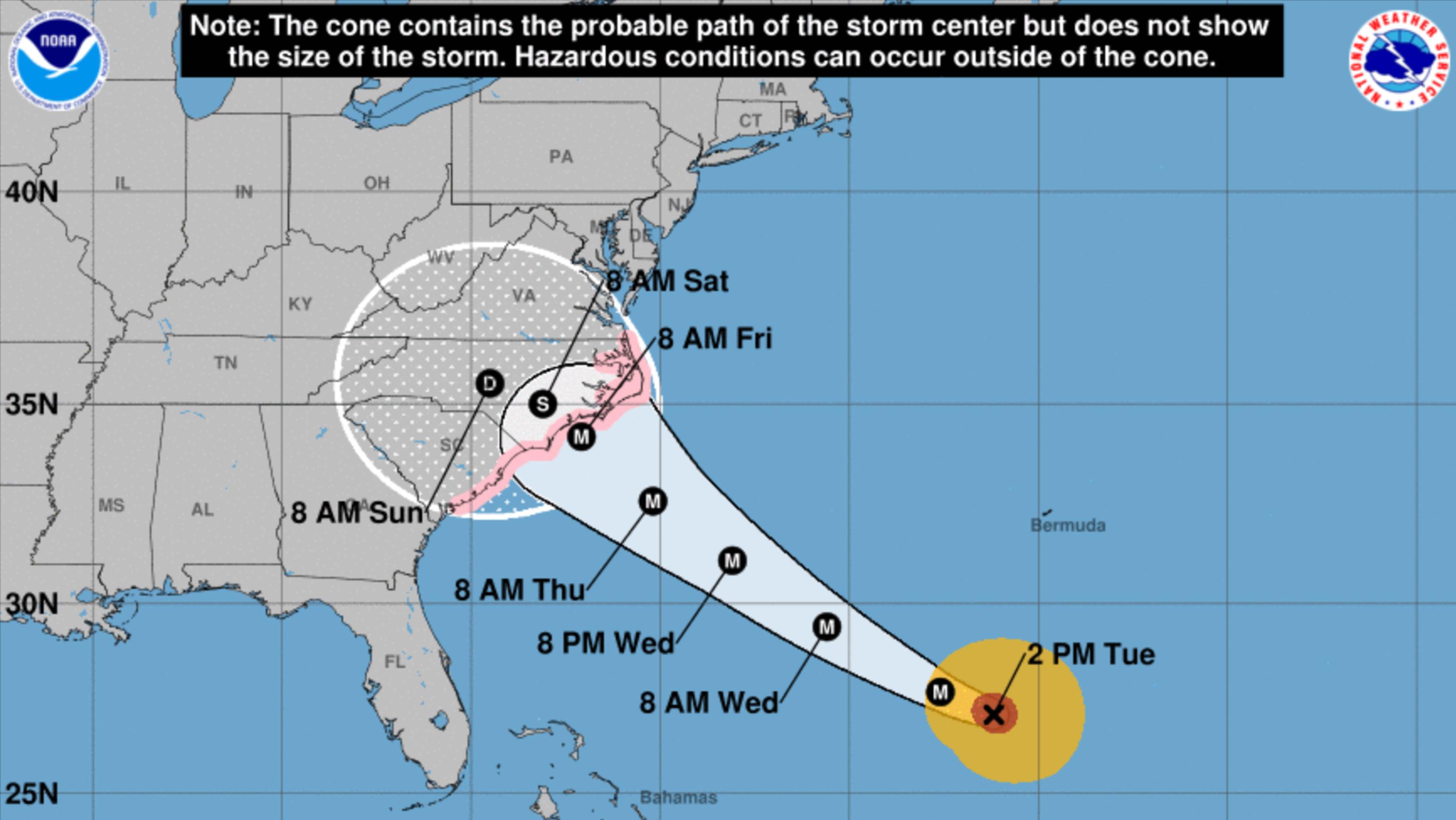 Hurricane Florence: Hurricane watch issued for Carolina coast on