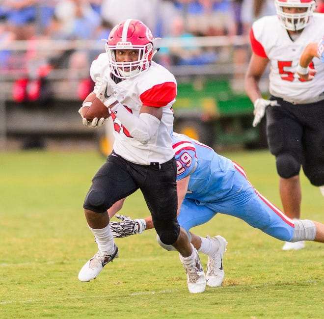Senior running back Collin Wakefield and the eighth-ranked Greenville Red Raiders will play on the road against No. 2 South Pointe in a Class AAAA game at 6:30 p.m. Wednesday.