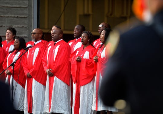 The Alexander Temple Church of God will sing the national anthem again this year.