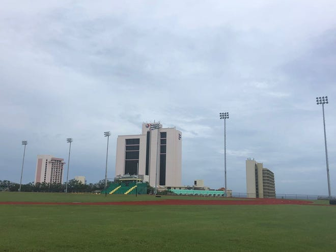 Facilities were good at John F. Kennedy High School after Typhoon Mangkhut on Sept. 11, 2018, according to Jay Antonio, JFK athletic director.