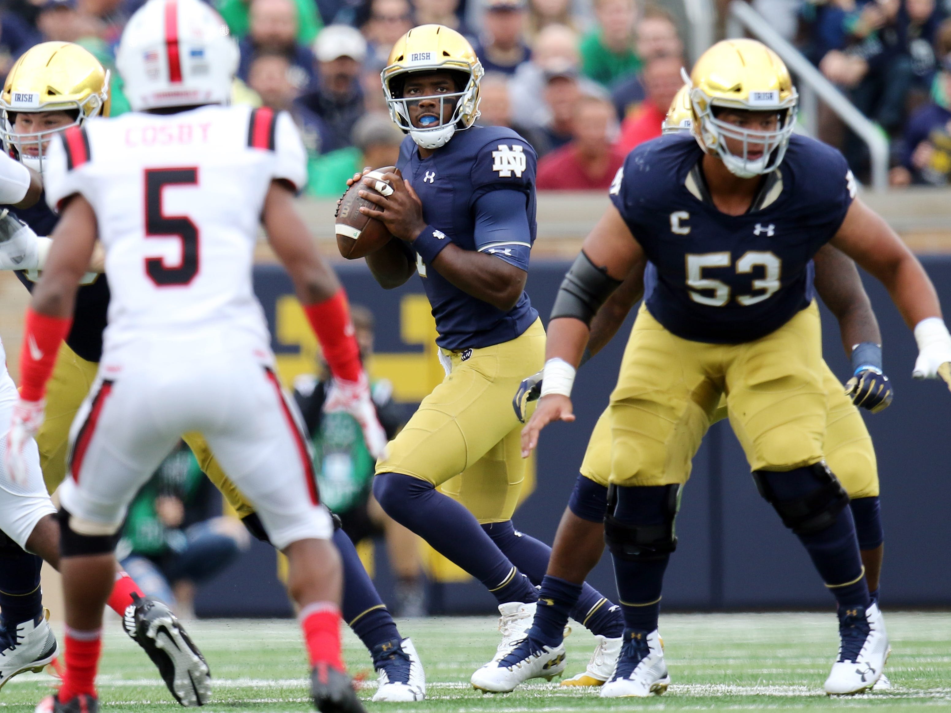 Here's the line on Notre Dame football: 'Hit some people in the nose'