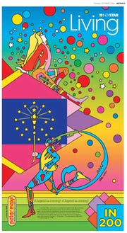 Legendary pop artist Peter Max created this cover for the Oct. 2, 2016, edition of Indy Living.