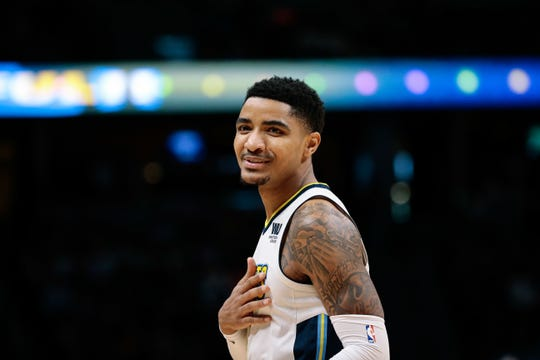 Mar 11, 2018;  Denver Nuggets guard Gary Harris (14) in the second quarter against the Sacramento Kings at the Pepsi Center.