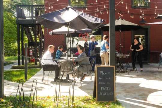 Rail Restaurant and Bar seats customers for lunch in Westfield Ind. on Tuesday, Sept. 11, 2018.