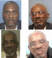 Photos of Charles Grayer behind bars since 2002