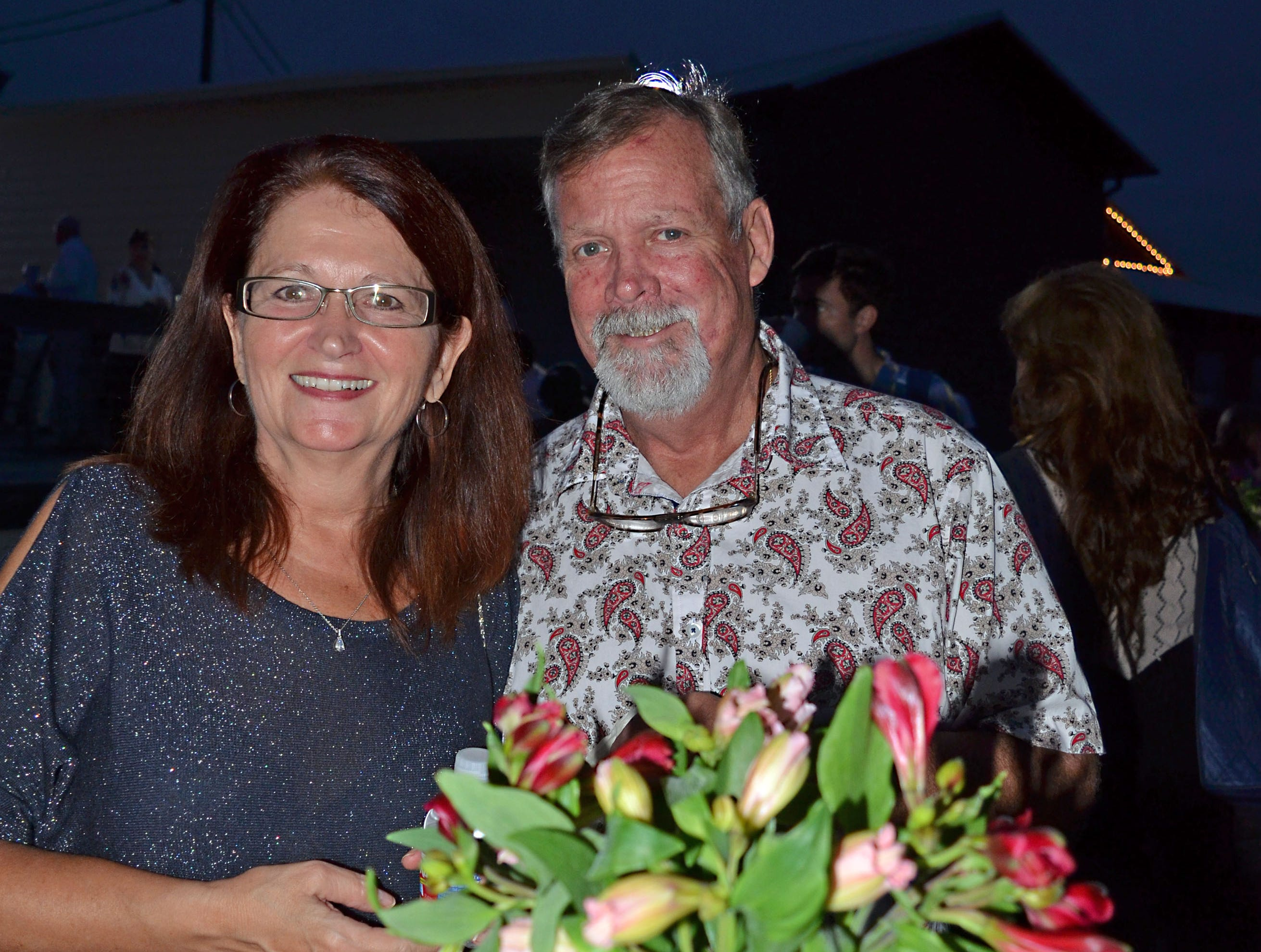 Tammy and Chip Evins, of Madison, enjoy celebrating their 36th wedding anniversary while attending Sweetest Chefs at The Lake House in Ridgeland.