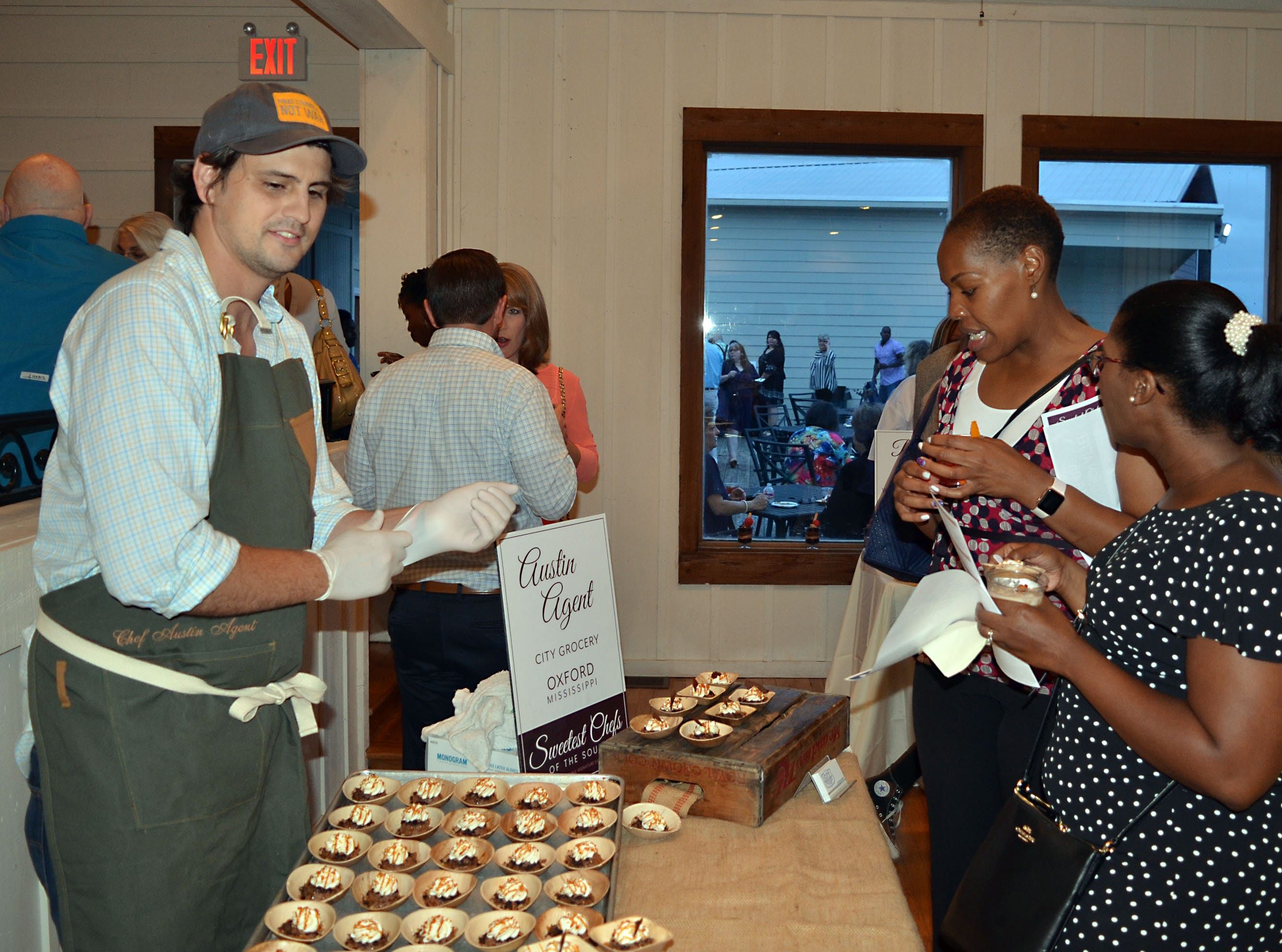 Pastry chef Austin Agent of City Grocery  in Oxford serves his Mississippi Mud Pie during The Sweetest Chefs event.