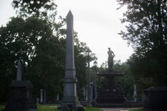 Albers Fountain back at Old Gray Cemetery