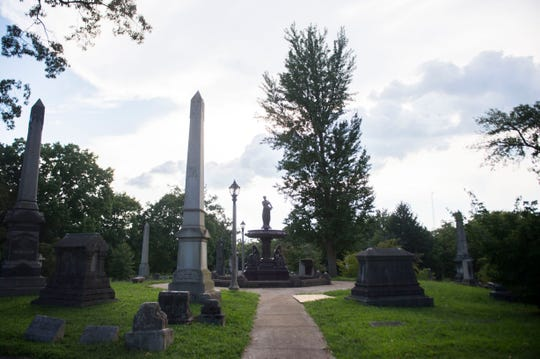The recreated Ella Albers Memorial Fountain sits in a key location in Old Gray Cemetery. The fountain is the recreation of one dedicated in 1890 in memory of a young wife and mother.