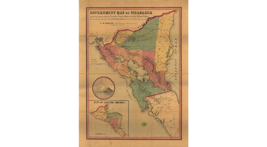 Map of Nicaragua during William Walker's time