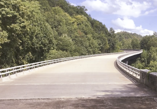 Part of the Foothills Parkway that is from Walland to Wears Valley and it is not open to the public yet. It is scheduled to open in mid to late November this year.