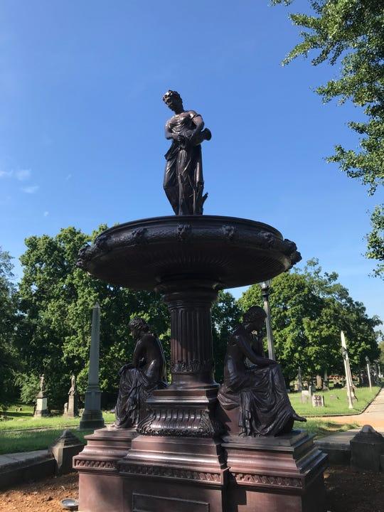 The recreated Ella Albers Memorial Fountain