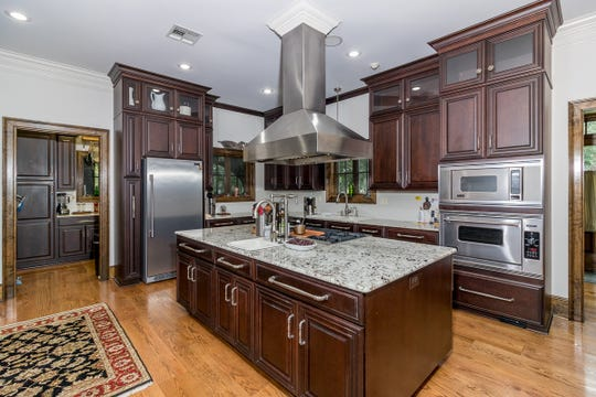 The beautiful kitchen has been totally updated.