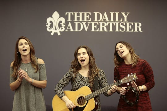 Sweet Cecilia, which includes, from left, Callie Guidry, Laura Huval and Maegan Berard Rankin, open Downtown Alive! with Lane Mack Friday.