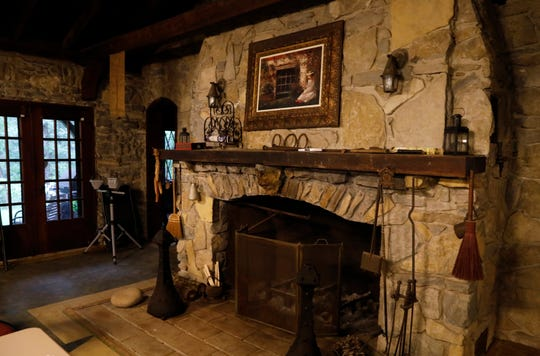 The fireplace in Mambourg Lodge can be used from the inside or outside.