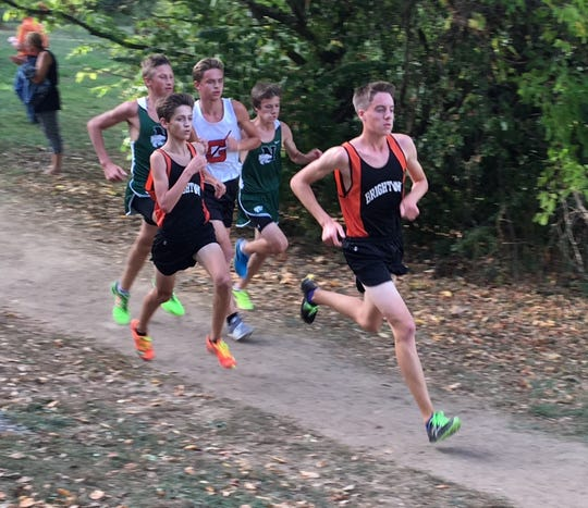 Jack Spamer (right) and John Monroe are two of the top returning runners for Brighton.