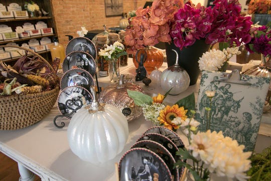 Silk flowers are among the home decor items to be offered at Dragonfly Emporium, shown Tuesday, Sept. 11, 2018.