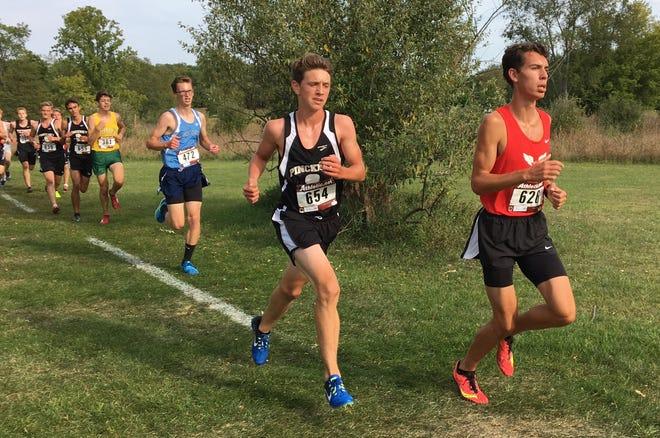 Pinckney's Gavin White (654) ran 16:12.9 in a season-opening meet in Benzie.