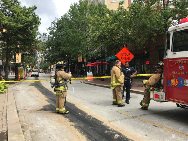 Parts of Fourth Street were blocked off Tuesday around noon due to a gas leak.